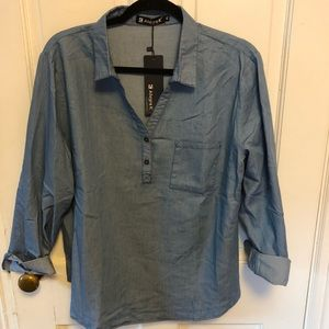 NWT!  Allegra Chambray Top - lightweight for fall!